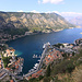 Blick von der Sveti Ivan Festung hinunter auf Kotor und die Bay of Kotor