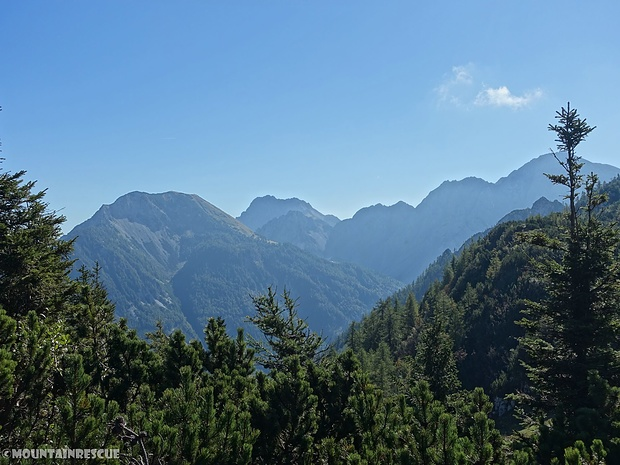Die imposanten Berge im Bärental