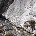 Geschickt nutzt die Steiganlage reichlich vorhandene, natürliche Bänder.