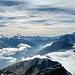 Aussicht vom Gipfel in Richtung Frukapass