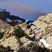 In der Südwand am Klettern.