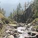 il guado del Ri della Cròsa: sguardo a valle