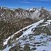 Dalla Bocchetta di quota 2721 metri la vista sulla Val Vignun e le sue montagne.