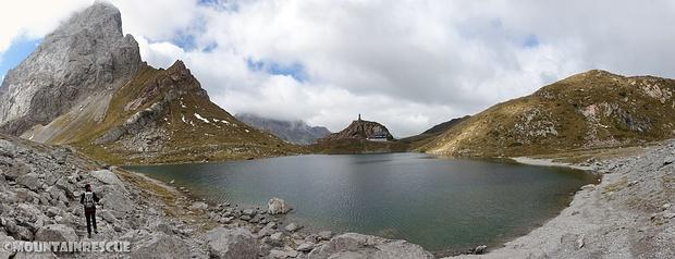 Wolayer See mit gleichnamiger Hütte