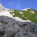 Gleich geschafft - die erste Kletterpassage hinauf zum Schönen Fleck
