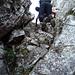 Im Kamin kurz vor dem Ausstieg