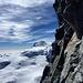Sicht aus der Kletterwand zum Strahlhorn.