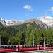 Bernina-Express<br />... er durch den Berg und ich gut 700 m darüber