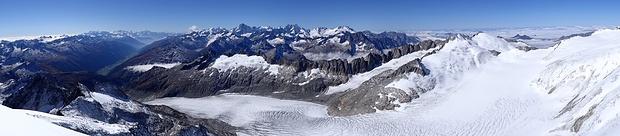 Wallis, Berner Alpen und Rhonegletscher