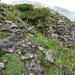 sonderbares Gestein etwas oberhalb vom Sattel (1946 müM).
