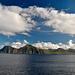 Blauer Himmel und Sonne im ansonsten so stürmischen Nordatlantik.