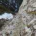 gut gesicherter Abstieg zum Rotsteinpass