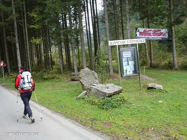 ...vorbei am Alpinpark Steinmühle