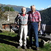 noi fratelli gentilmente fotografati a Cala dalla moglie del gestore pro tempore del rifugio Alpe Sponda....