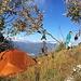 Unser Zeltplatz beim Gipfel