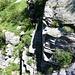 Aurigliaschlucht mit Leiter