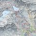 percorso (il tratto Foroglio-Calnegia non è rappresentato)