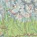 Meine rot eingezeichnete Route auf den slowakischen Landeshöhepunkt Gerlachovský štít (2654,4m). Losgelaufen war ich von unserer Pension in Štrbské Pleso (1340m), abgestiegen war ich nach Vyšné Hágy (1100m) um von dort mit der Bahn zurück nach Štrbské Pleso zu fahren.