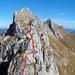 Ungefährer Aufstieg über den Echelle-SW-Grat
