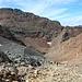 Unterwegs zwischen Port de Sotllo und Pica d'Estats - Rückblick. Im Hintergrund links ist der Pic de Sotllo zu sehen.