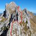 Ungefährer Aufstieg entlang dem Gobette-SW-Grat