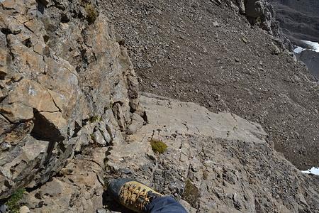 Die Kletterstelle von oben.