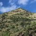 Unterwegs bei La Molinassa - Blick auf die südlichen Ausläufer des Pic d'Areste. Unsere Wanderung zum Pica d'Estats wird drei Tage später durch diese Flanken führen. Foto vom 11.09.2015.