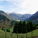 Panorama vom Sattel am Alpenrosenköpfle.