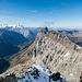 Blick Richtung Westen vom Klein Titlis aus mit Berner Hochalpen, Reissend Nollen und den Wendenstöcken. Im Hintergrund rechts die Melchsee-Frutt.