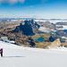 Bestechendes Panorama. Weiter unten sieht man einige Gletscherspalten.
