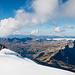 Und weil es so schön ist nochmals: Die Seenplatte der Melchsee-Frutt von wenig unterhalb des Gipfels aus fotografiert.