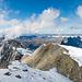 Rückblick auf die obersten Fixseile vom Gipfel des Titlis aus