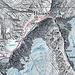 Vom Chli Ruchi zum Drahtseil Furggeli, danach weiter  Weglos bis zum Einstieg. Bis zum Gipfel mehrere  Wegspuren