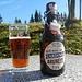 ein für mich bis dato unbekanntes Bier geniesse ich auf der Terrasse des Erikas
