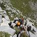 Typische Kletterrei in der Route: wenig kompakt und zuweilen etwas brüchig