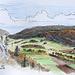Le Val de Travers, depuis le sentier du Haut de la Vy