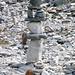 Kunstvolle Steinmänner in verlassener Gegend