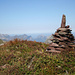 Gipfelsteinmännchen Etscherzapfen, Blick nach Westen