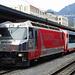 Für unsere Eisenbahnfreunde II: Der Glacier-Express ist zur Abfahrt parat (allerdings nur auf der Strecke Chur-St. Moritz)