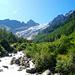 Glacier du Trient von der Brücke beim Chalet du Glacier
