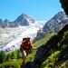 Am Weiterweg zum Col de Balme gibt's herrliche Ausblicke auf den Glacier du Trient