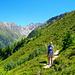 Der herrliche Weg zum Col de Balme