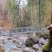 Eine der ersten Brücken auf dem Erlebnisweg.