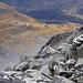 Il passo di Gana Negra e sulla destra in alto la strada del Passo del Lucomagno con l'Alpe Casaccia