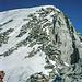 Blick von der Scharte zum Gipfelhang des Löfflers.