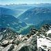 Gipfelblick in die Dolomiten.
