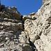 Die erste Kletterstelle auf dem Weg zum Ober Firnband.