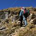 Steilstufe beim Abstieg zu den Apöstel