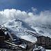 Monte Scorluzzo rechts in den Wolken