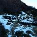 E questo è il lato verso Nord .... Tutto all' ombra, neve e ghiaccio